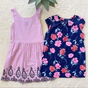 Bundle girls gap pink white stripe dress tunic top